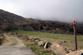 strada montagna cartello