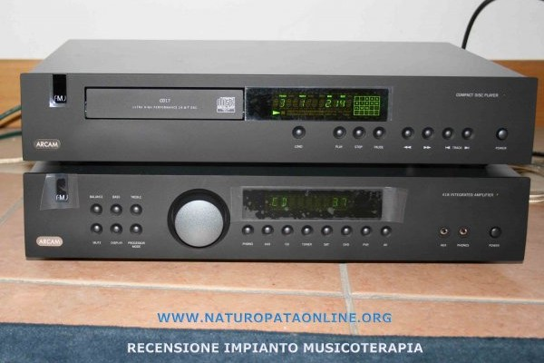 impianto audio musicoterapia arcam monitor audio