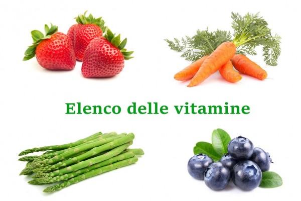 Elenco vitamine