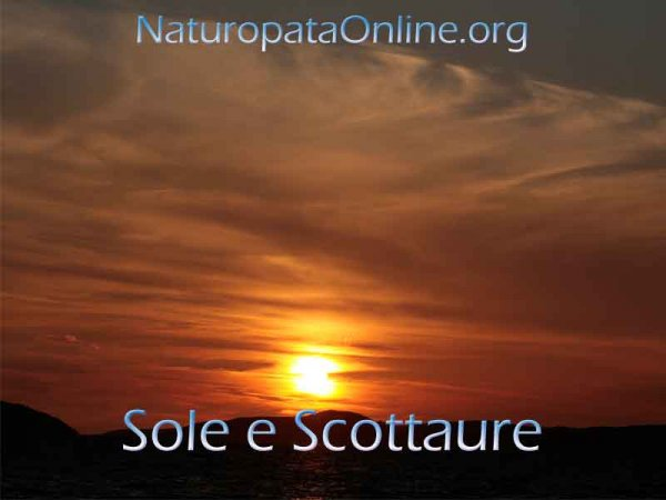 sole scottature eritemi
