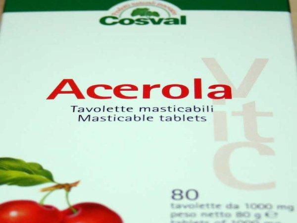 integratore naturale vitamina c da acerola cosval