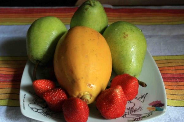 bevanda della salute papaia fragole mirtilli pere