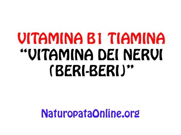 vitamina b1 tiamina