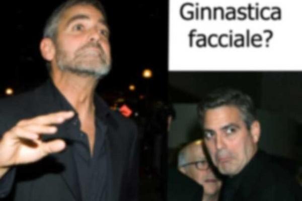 george clooney fa smorfie
