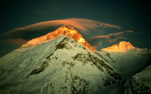 montagna tramonto