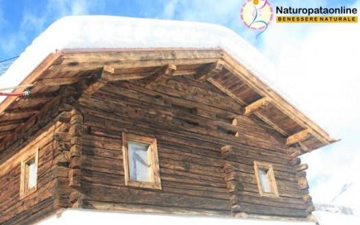 casa montagna neve