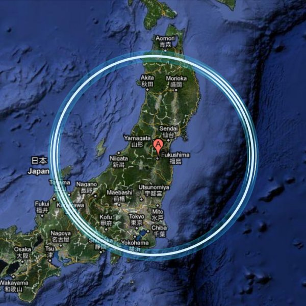 mappa cartina fukushima giappone