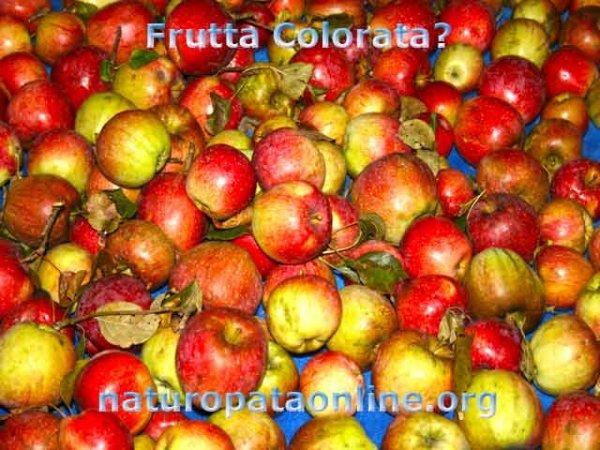 mele rosse gialle frutta colore