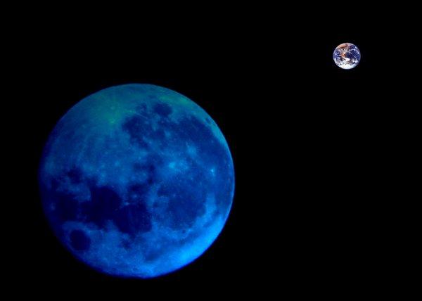 terra luna spazio