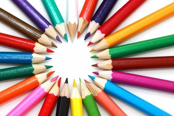 matite colorate cerchio