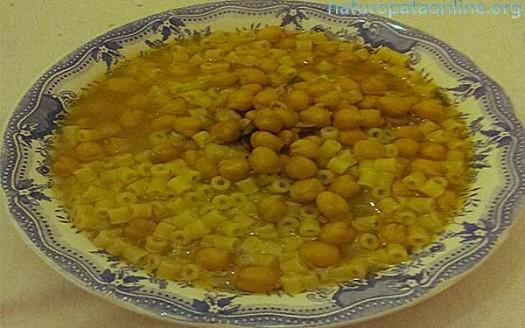 Ricetta naturale zuppa di ceci e peperoncino for Ricette on line