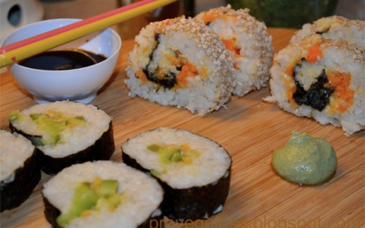 sushi vegatariano