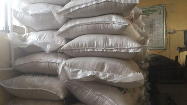 riso di plastica sacchi