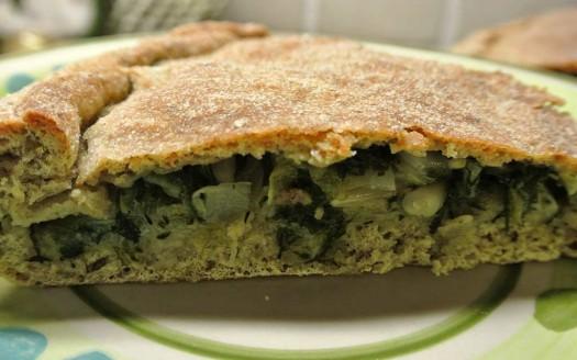 Torta rustica integrale con verdure