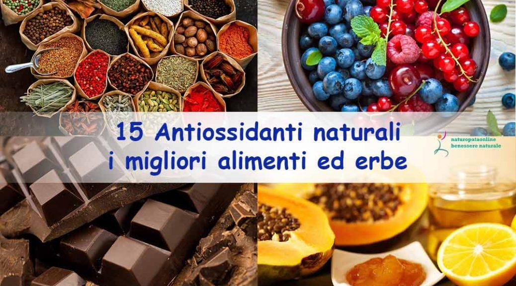Antiossidanti naturali