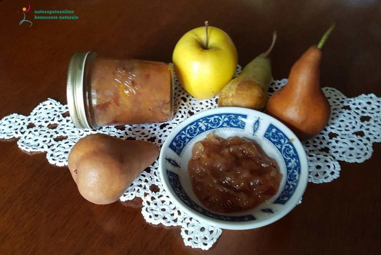 Marmellata di pere con mele, arance e zenzero
